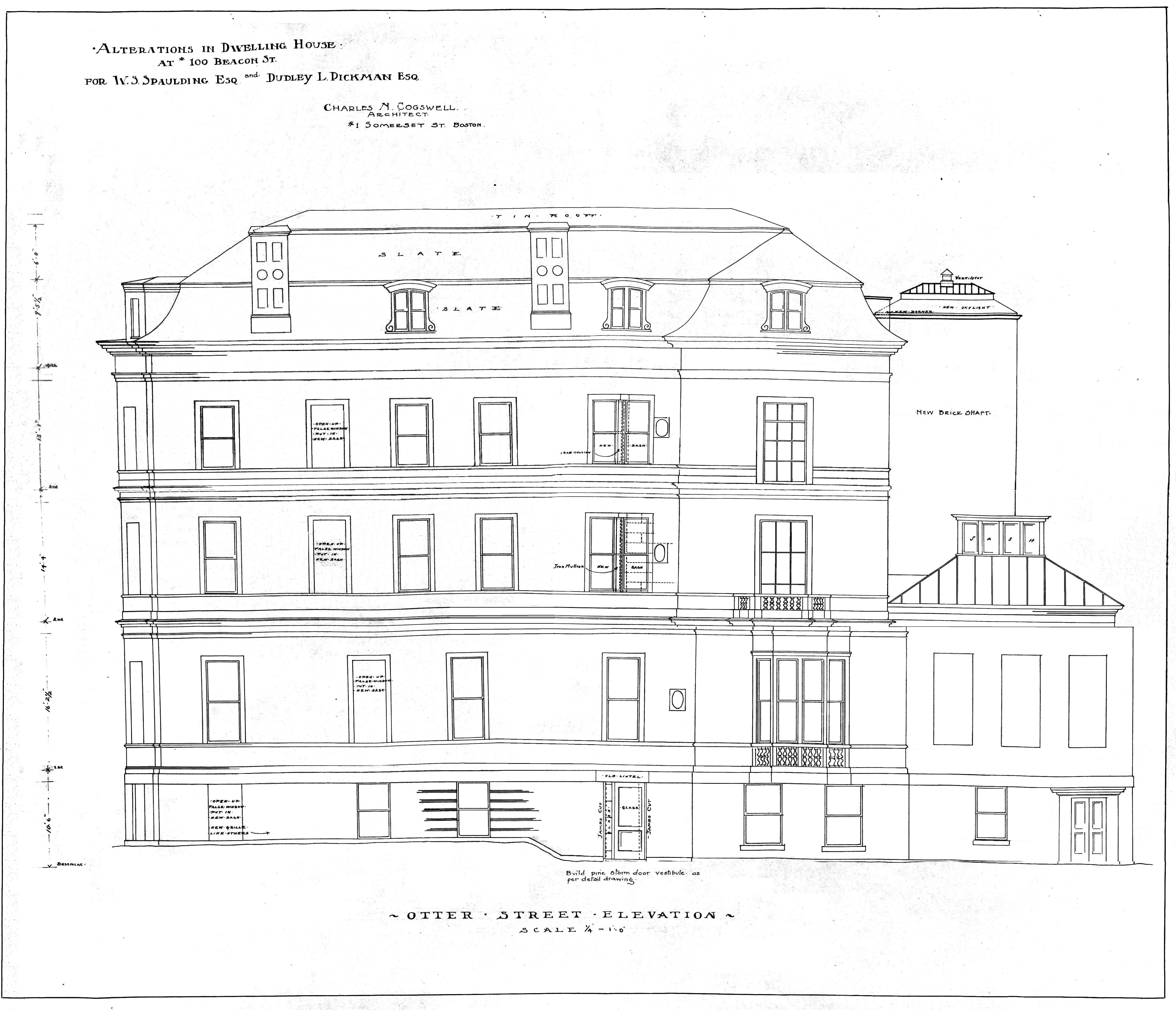 100 beacon back bay houses beac 100 otter st elevation bpl blueprint bw 1 malvernweather