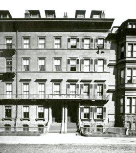 104-106 Beacon (ca. 1867), photograph by Josiah Johnson Hawes, courtesy of the Boston Athenaeum
