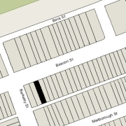 Irregular lot: 20' on Beacon, 19' on Alley 421, 112 ' East-West (2,191 sf)