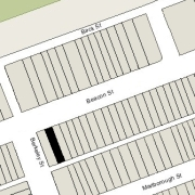 Irregular lot: 24' on Beacon, 25 on Alley 421, 112 ' East-West (2,737 sf)