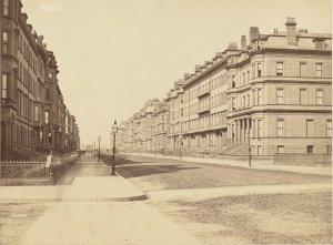 Beacon Street, looking west from Arlington (ca. 1870); courtesy of the Print Department, Boston Public Library