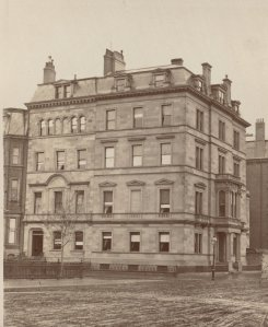 1 Commonwealth and 12 Arlington (ca. 1870), photograph by Frederick M. Smith, II; courtesy of the Print Department, Boston Public Library