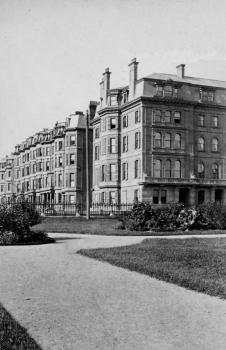 1-7 Marlborough, with 7 Arlington in foreground (ca. 1870), courtesy of the Bostonian Society.