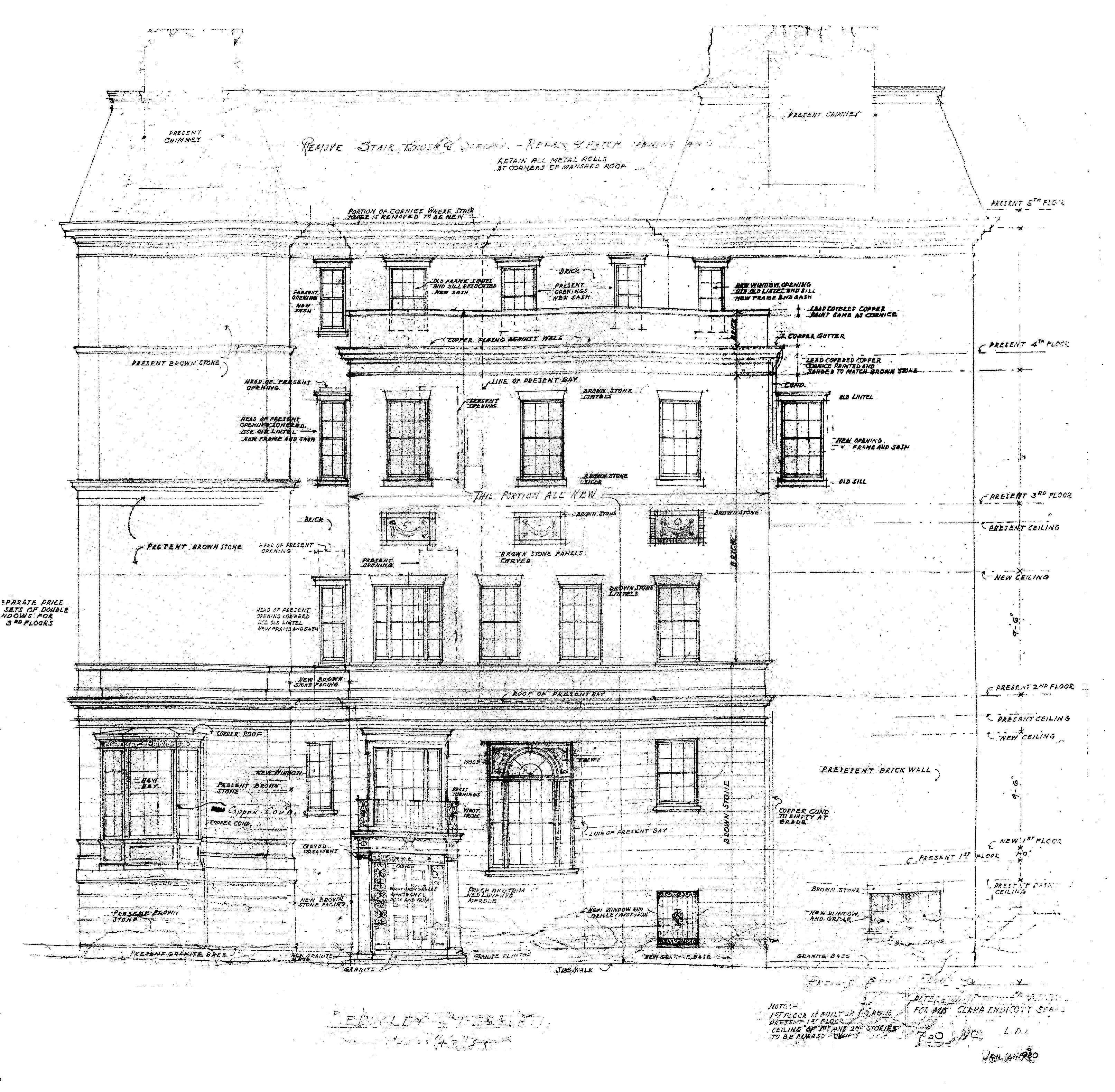 Beac 132 berkeley elevation bpl blueprint 1930 bw 1 back published november 18 2015 at 3225 3160 in malvernweather Image collections
