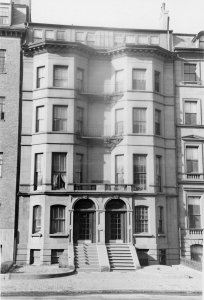 136-138 Beacon (ca. 1942), photograph by Bainbridge Bunting, courtesy of The Gleason Partnership