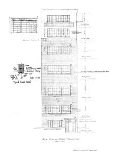 Architectural rendering of front elevation of 186 Beacon (Apr1960), by Joseph DiStefano, Jr., architect; courtesy of the Boston Public Library Arts Department