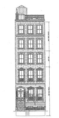 Architect's rendering of renovated front elevation of 196 Beacon (ca. 1999); courtesy of Payne Collins Design, Inc.