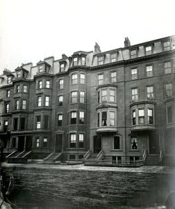 217-225 Beacon (ca. 1870), photograph by Josiah Johnson Hawes, courtesy of the Boston Athenaeum