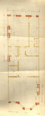 Second floor plan of 285 Beacon, bound with the final building inspection report, 15Jul1886 (v. 15, p. 52); courtesy of the Boston Public Library Arts Department