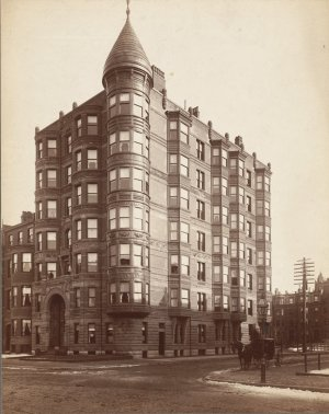 295-297 Beacon (ca. 1890); courtesy of the Print Department, Boston Public Library