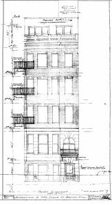 Architectural rendering of proposed front elevation of 482 Beacon (1928), by Edward T. P. Graham, courtesy of the Boston Public Library Arts Department