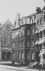 247 Berkeley, Newbury Street façade (ca. 1880), courtesy of Historic New England