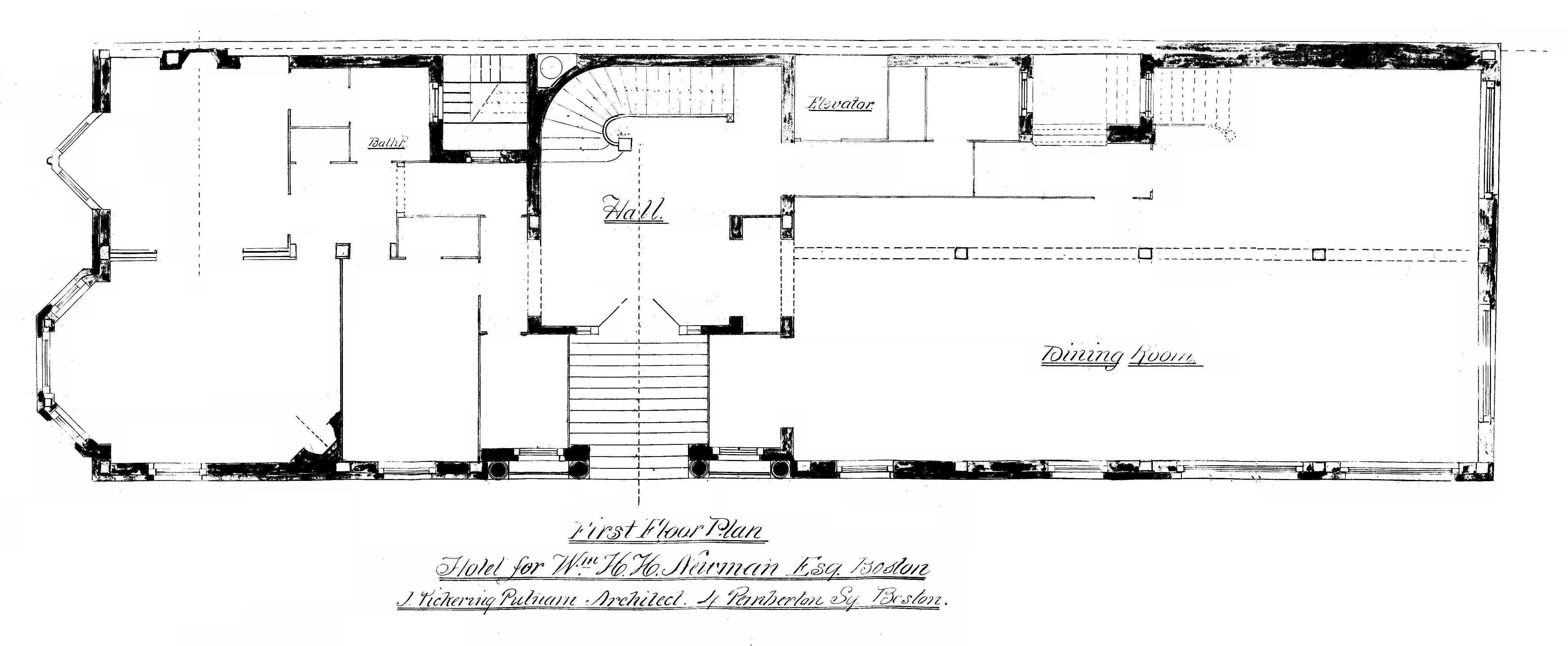 282 berkeley 29 commonwealth back bay houses first floor plan of 282 berkeley 29 commonwealth from original blueprints drawn by malvernweather Choice Image