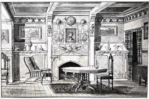 "270 Clarendon, Dining Room; ""The Book of American Interiors"" (1876)"