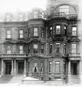 10-12 Commonwealth (ca. 1920), showing remodeling of upper floors of 12 Commonwealth; photograph by William T. Clark, courtesy of Historic New England