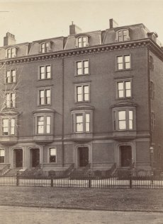 32-36 Commonwealth (ca. 1870), photograph by Frederick M. Smith, II; courtesy of the Print Department, Boston Public Library