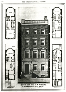 Architectural rendering of 43 Commonwealth; The Architectural Review, July 1905