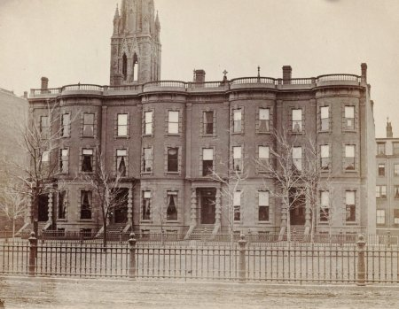 54-58 Commonwealth (ca. 1870), photograph by Frederick M. Smith, II; courtesy of the Print Department, Boston Public Library