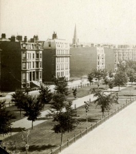 109-111 Commonwealth and 260 Clarendon (ca. 1875), detail from photograph taken from the Hotel Vendôme, courtesy of the Boston Athenaeum