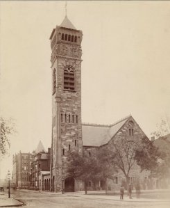 First Baptist Church (ca. 1890), photograph by J. W. Taylor; Ryerson and Burnham Archives, The Art Institute of Chicago (Digital file #43924)