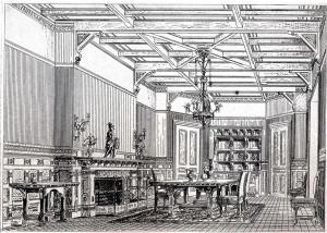 122 Commonwealth, Dining Room, from The Book of American Interiors (1876)