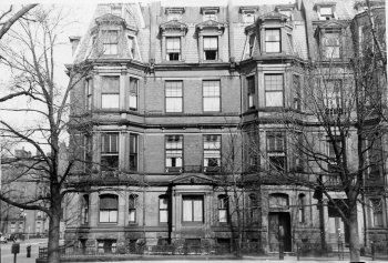 151 Commonwealth and Commonwealth façade of 303 Dartmouth (ca. 1942), photograph by Bainbridge Bunting, courtesy of The Gleason Partnership
