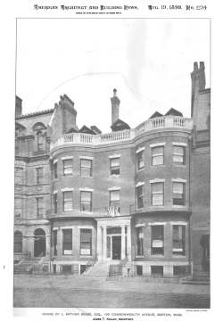 199 Commonwealth (1899); American Architect and Building News, 19Aug1899 (no. 1234), p. 63