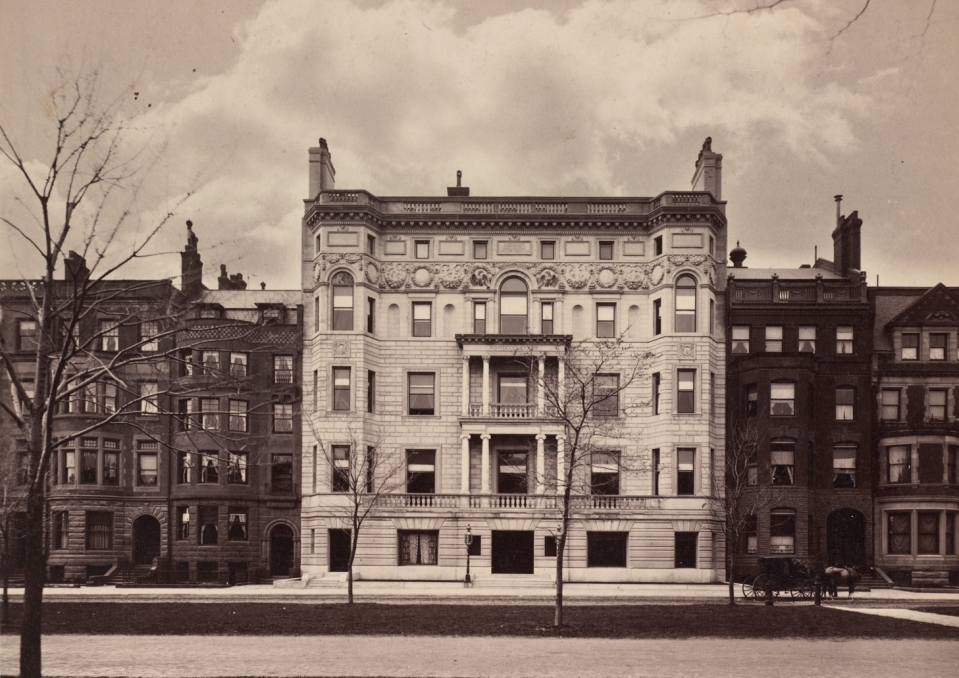 213-225 Commonwealth (ca. 1888), courtesy of the Boston Public Library, Print Department