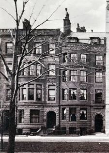223-225 Commonwealth (ca. 1888), detail from photograph of the Algonquin Club, courtesy of the Boston Public Library, Print Department