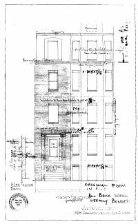 Architectural rendering of proposed front elevation of 228 Commonwealth (1946), by architect Saul Moffie; courtesy of the Boston Public Library Arts Department
