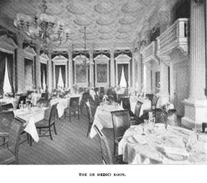 """De Medici Room"" dining room of 270 Commonwealth; Architecture and Building, vol. xxvii, no., 1 (3Jul1897)"