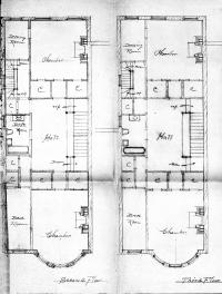 Second and third floor plans of 329 Commonwealth, bound with the final building inspection report, 15Dec1896 (v. 84, p. 58); courtesy of the Boston Public Library Arts Department