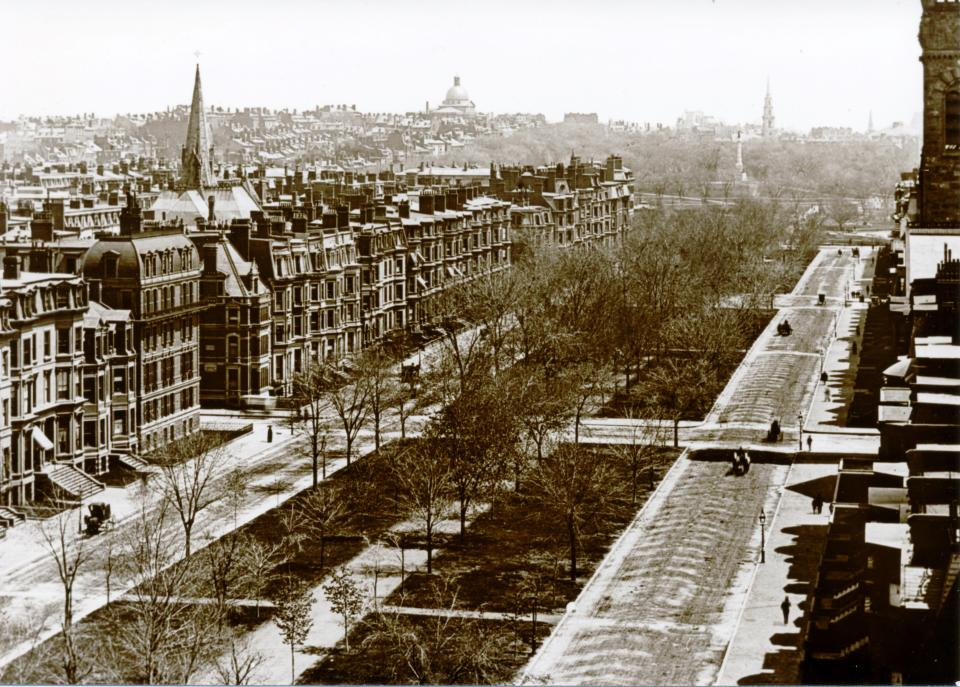 North side of Commonwealth looking east from 109 Commonwealth (ca. 1890); courtesy of Barry and Judith Solar