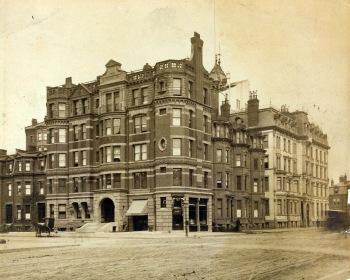 Hotel Aubry at 149 Newbury (278 Dartmouth) (ca. 1895), courtesy of Historic New England