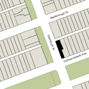 Irregular Lot 124.5' on Dartmouth, 20' on Commonwealth, 30.33' on Alley 424 (3,454 sf)
