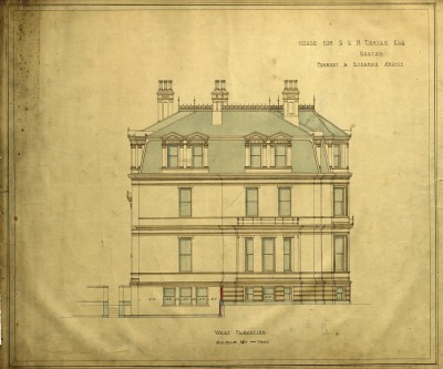 Western façade