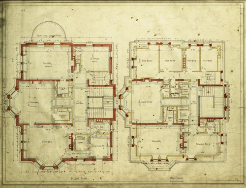 Second and third floor plans
