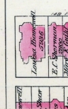 315 Dartmouth, 1883 Bromley map