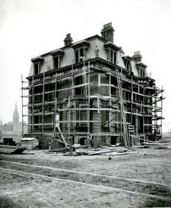 315 Dartmouth under construction (ca. 1870), photograph by Josiah Johnson Hawes, courtesy of the Boston Athenaeum