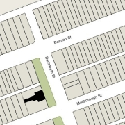 Irregular Lot 46' on Dartmouth, 100' East-to-West, 18' on the western line (2,639 sf)