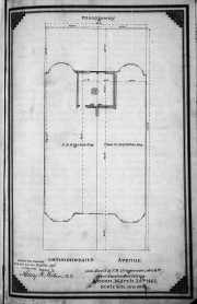 Plan of easement for room at rear of 8-10 Commonwealth, drawn by Snell and Gregerson, March 1863; Suffolk County Deed Registry, Book 825, p. 195.