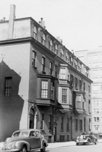 1-5 Exeter, looking north (ca. 1942), photograph by Bainbridge Bunting, courtesy of The Gleason Partnership