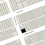 Irregular Lot 49.37' on Gloucester, 57' on Marlborough, with inset at Northeast corner (2,821 sf)