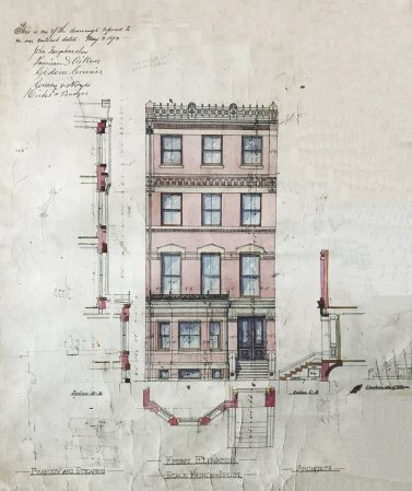 59 Marlborough, front elevation (1873); Peabody and Stearns