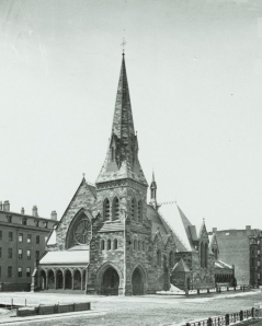 First Church Boston (ca. 1869), detail from photograph taken soon after its completion; courtesy of Historic New England