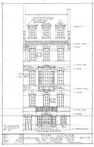 Architectural rendering of remodeled front facade (ca. 1917) by Lois L. Howe and Manning, architects; courtesy of the Boston Public Library Arts Department and Janet Hurwitz, architect
