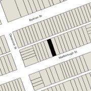 Irregular Lot 25.09' on Marlborough, 25.07 on Alley 420, 112' North-South (2,809.sf)