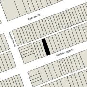 Irregular Lot 25.07' on Marlborough; 25.09' on Alley 420, 112' North-South (2,809 sf)