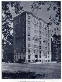 137 Marlborough (ca. 1926); Achievements of New England Architects and Engineers (Lewis J. Hewitt, 1927)
