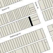 Irregular Lot 17.33' on Marlborough, 17.83' on Alley 417, 112' North-South (1,971 sf)